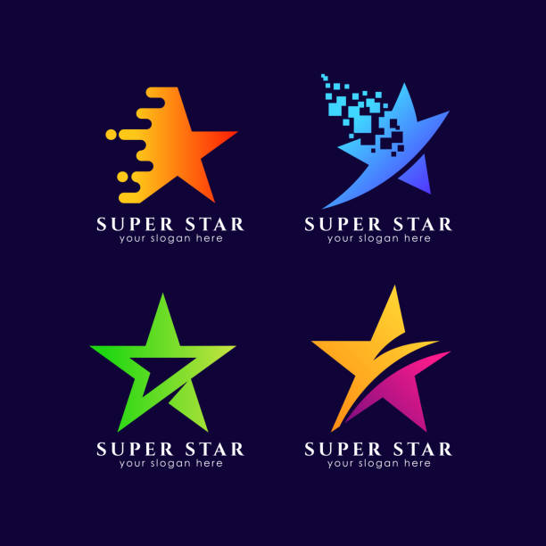star symbols template in gradient color style star symbols template in gradient color style celebrities stock illustrations