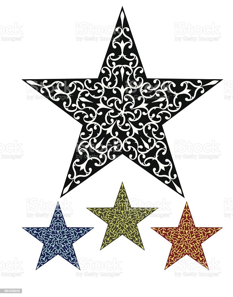 Star Tattoo royalty-free star tattoo stock vector art & more images of black color
