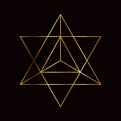 Star Tetrahedron Sacred Geometry Symbol