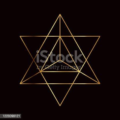 istock Star Tetrahedron Sacred Geometry Symbol 1223265121