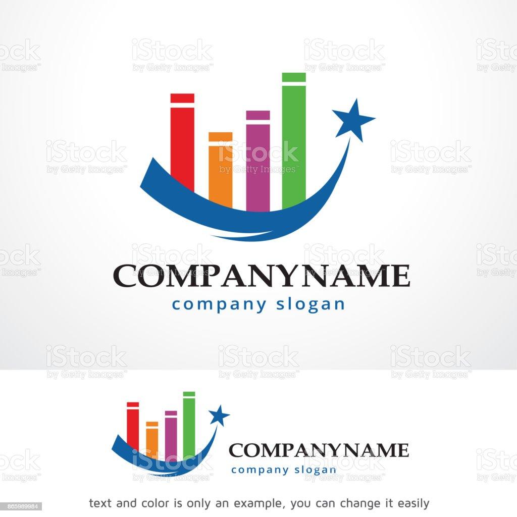 Star Track Symbol Template Design Vector Emblem Concept Diagram Creative Icon