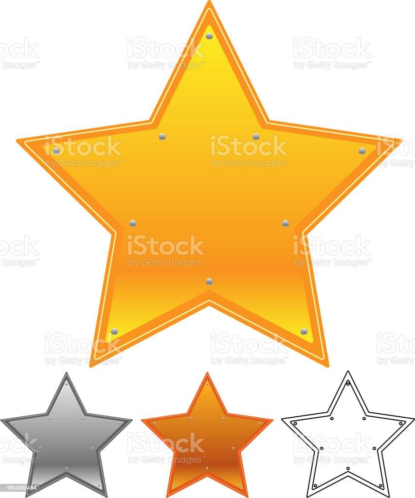 Star type metal plate set - Royalty-free Anniversary stock vector