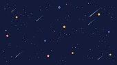 star universe background illustration. Flat design for kid.