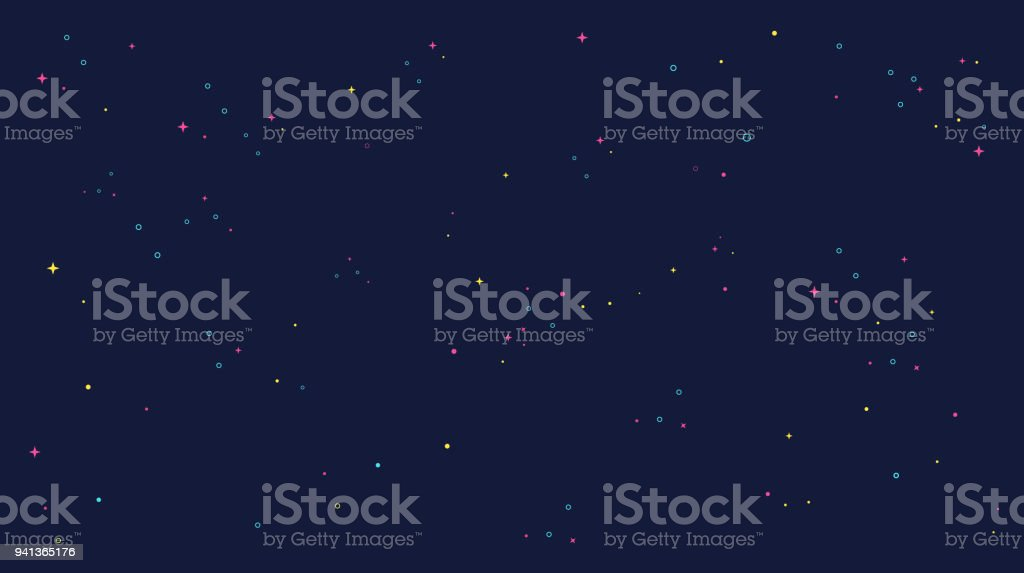 star universe background illustration. Flat design for kid. royalty-free star universe background illustration flat design for kid stock illustration - download image now