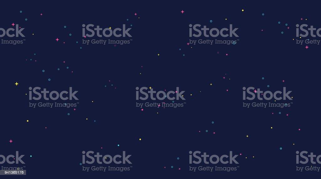 star universe background illustration. Flat design for kid. vector art illustration