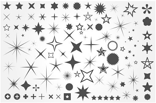 Sparkle icon set