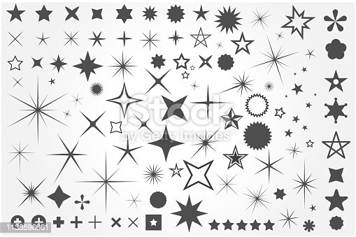 Sparkle icon set