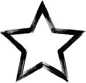 Star, brush stroke