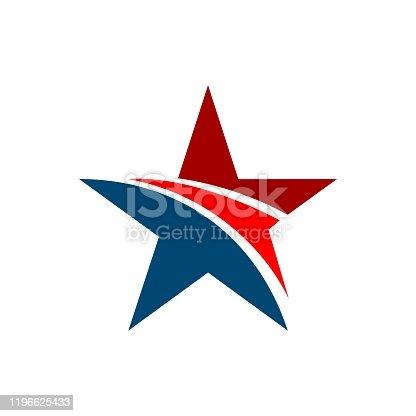 US Star vector Logo Template Illustration Design. Vector EPS 10.