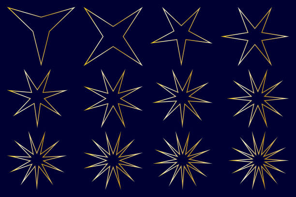 star - vector set - spiked stock illustrations