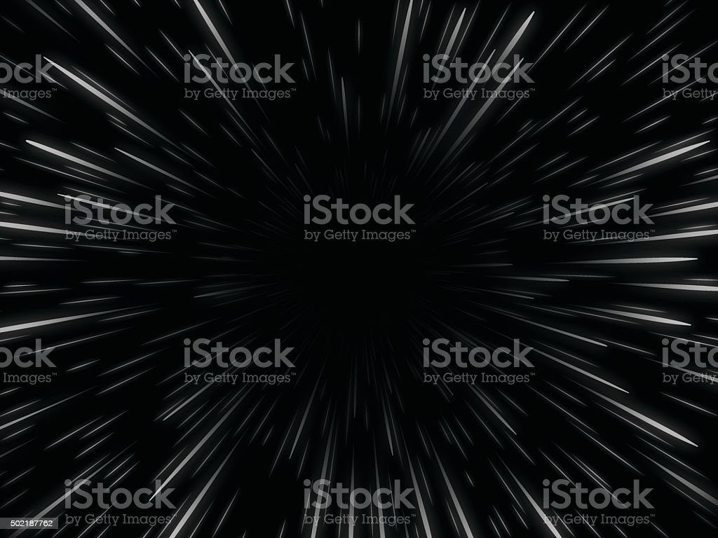 Star Warp vector art illustration