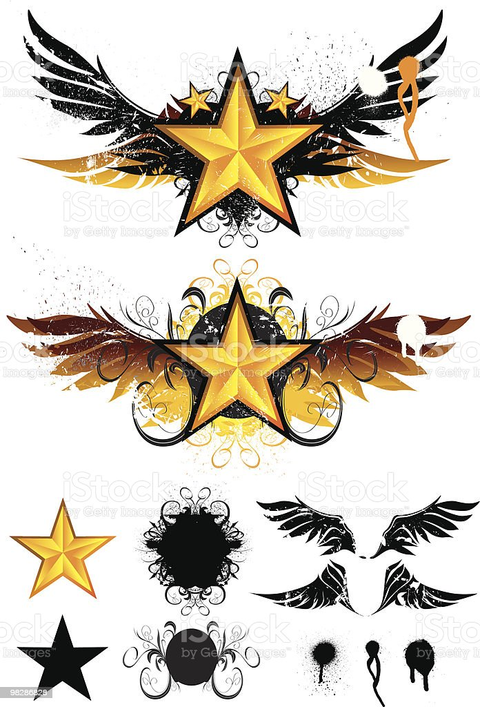 Star Wings royalty-free star wings stock vector art & more images of angel