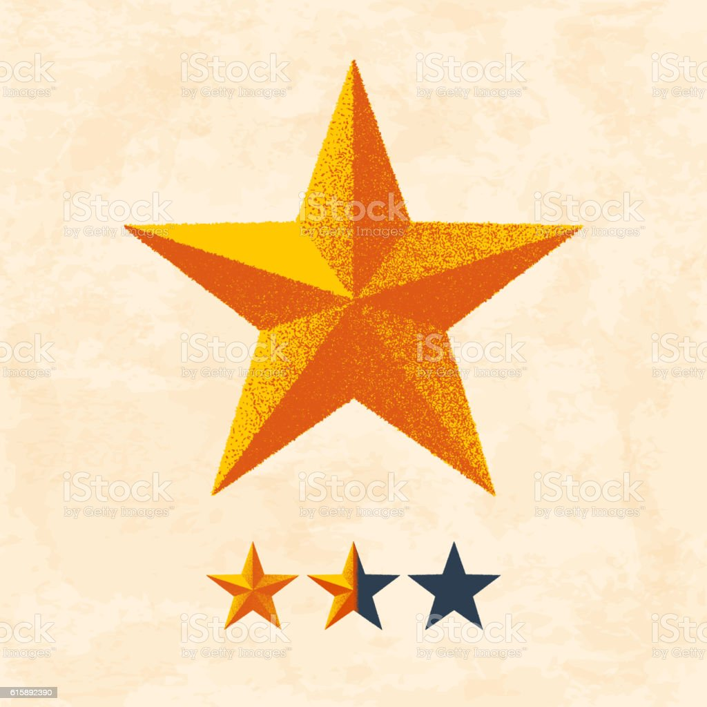 star with glitter texture and rating template stock vector art
