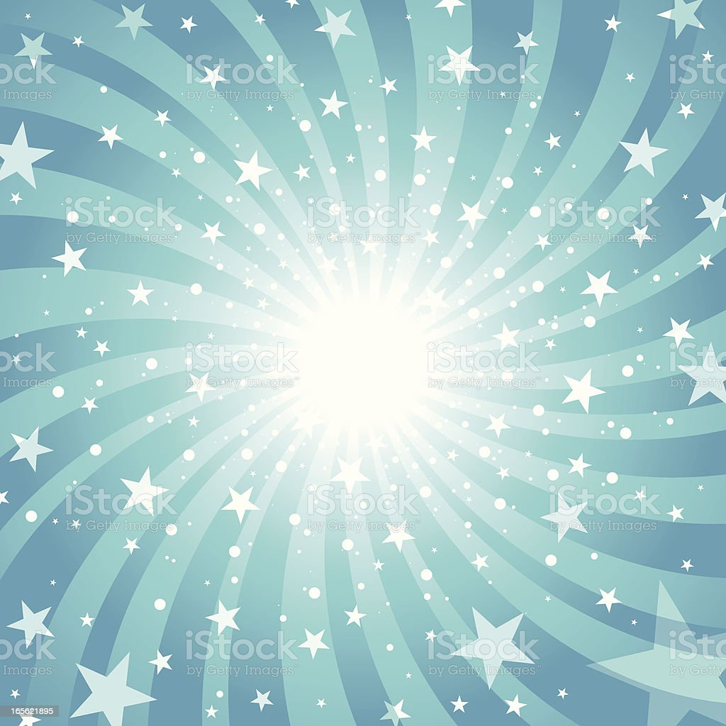 Starburst Background In Blue Stock Vector Art & More ...
