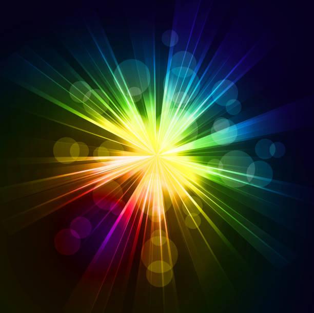 starburst backgrounds - rainbow glitter background stock illustrations