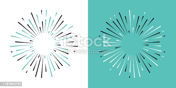 istock Starburst Blast Design Elements 1191944792