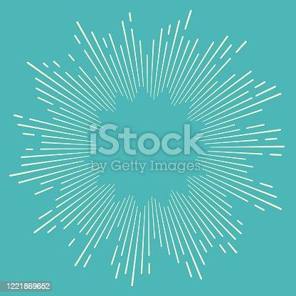 istock Starburst Blast Lines 1221869652