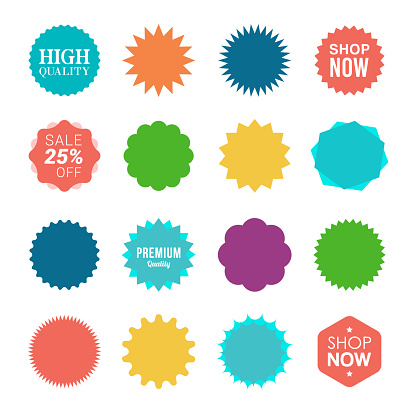 Starburst Sale Stickers