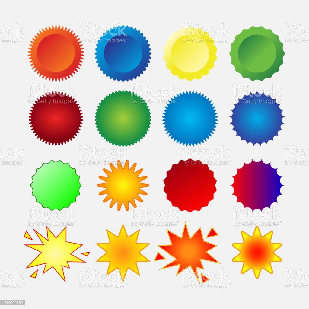 jeu de joints étoile - Illustration vectorielle