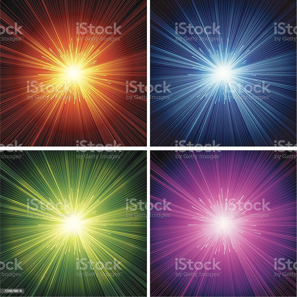Starburst Set royalty-free stock vector art