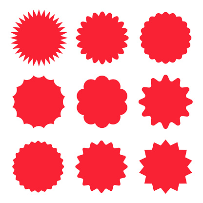 Starburst Stickers and Badges - Vector Set