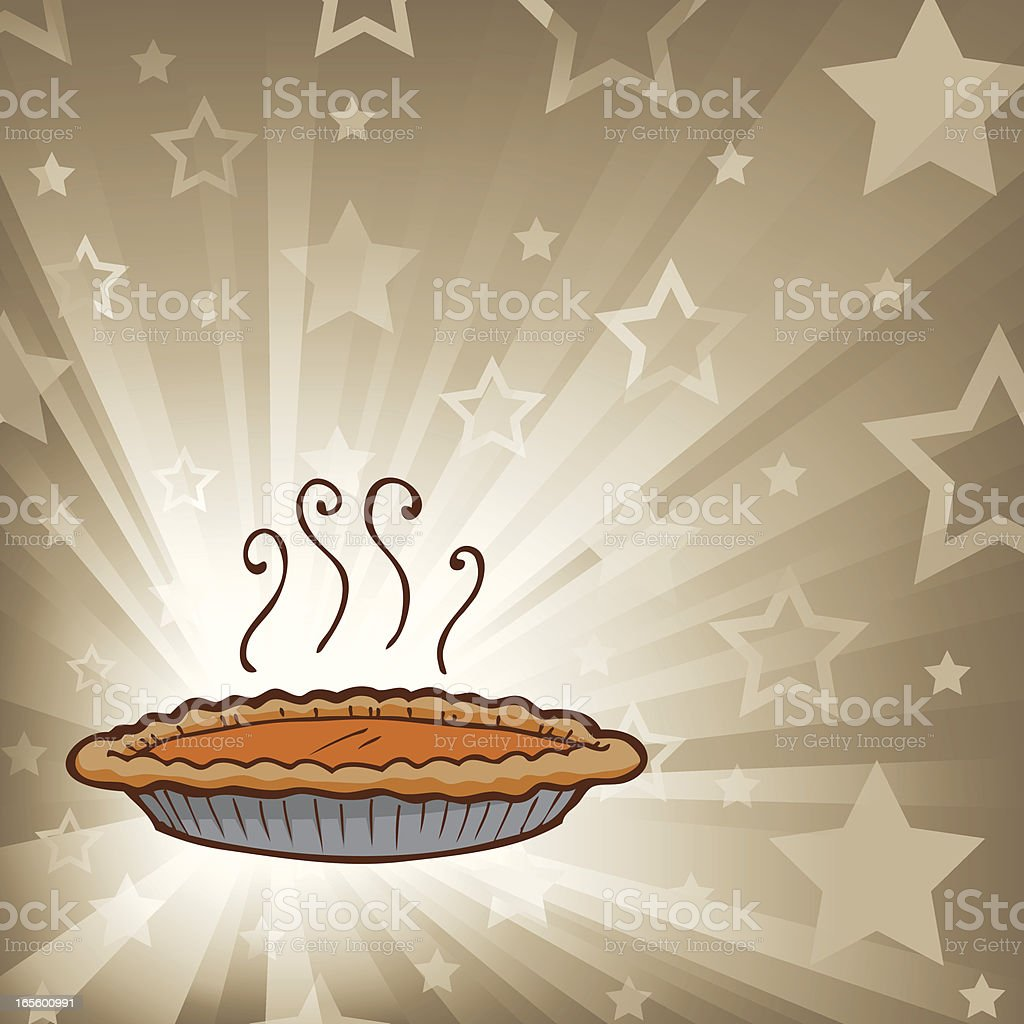 StarBurst2_PumpkinPie1 royalty-free stock vector art