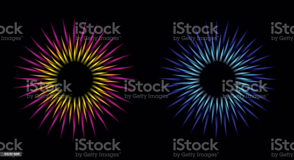 Starbursts royalty-free stock vector art