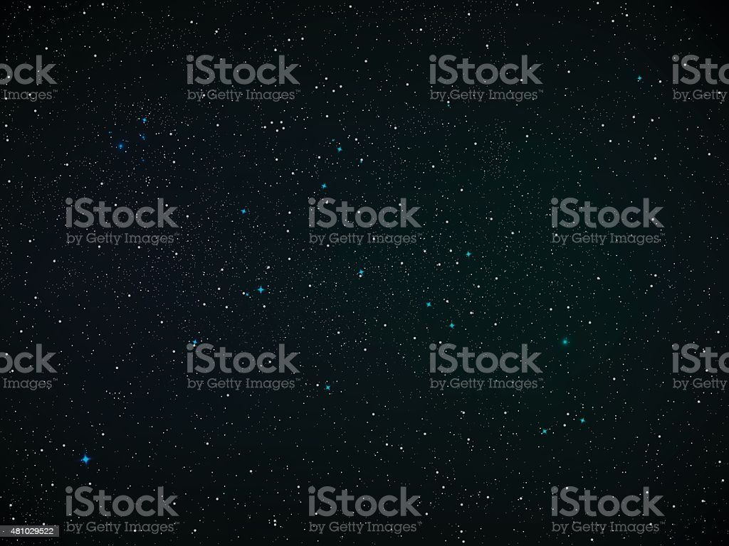 Starfield vector art illustration