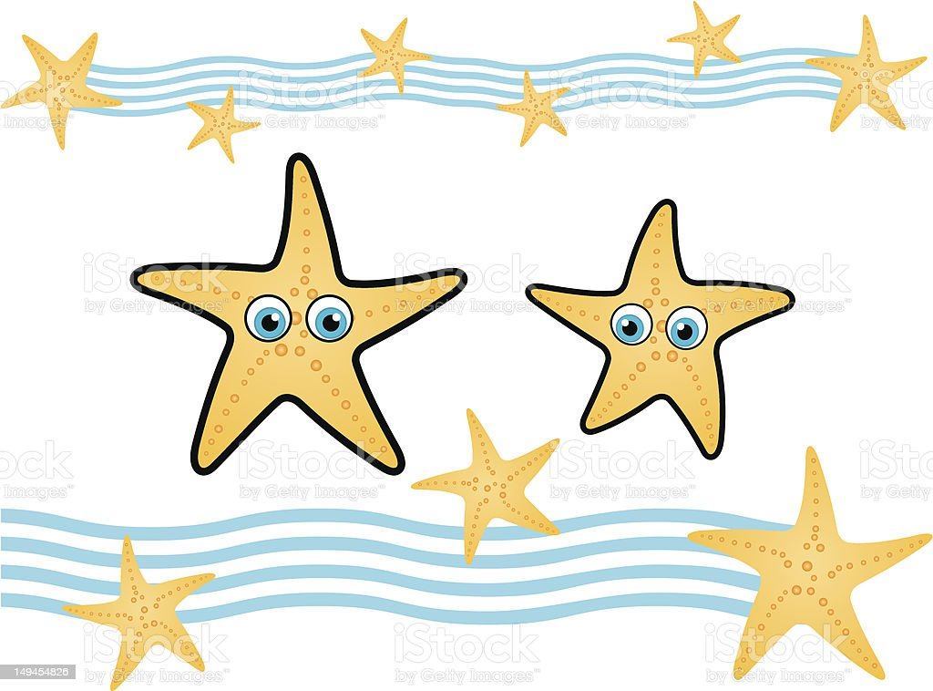 Starfish and waves royalty-free starfish and waves stock vector art & more images of animal