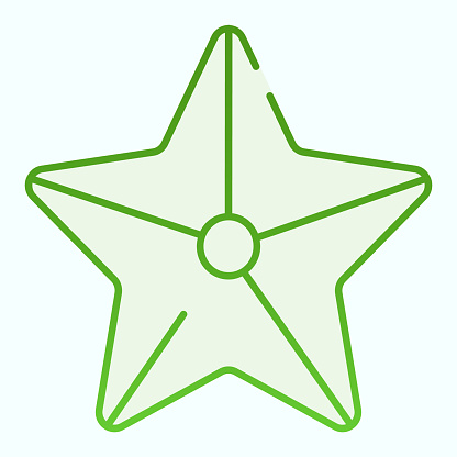 Starfish flat icon. Marine star illustration isolated on white. Starfish gradient style design, designed for web and app. Eps 10.
