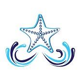 starfish  icon vector