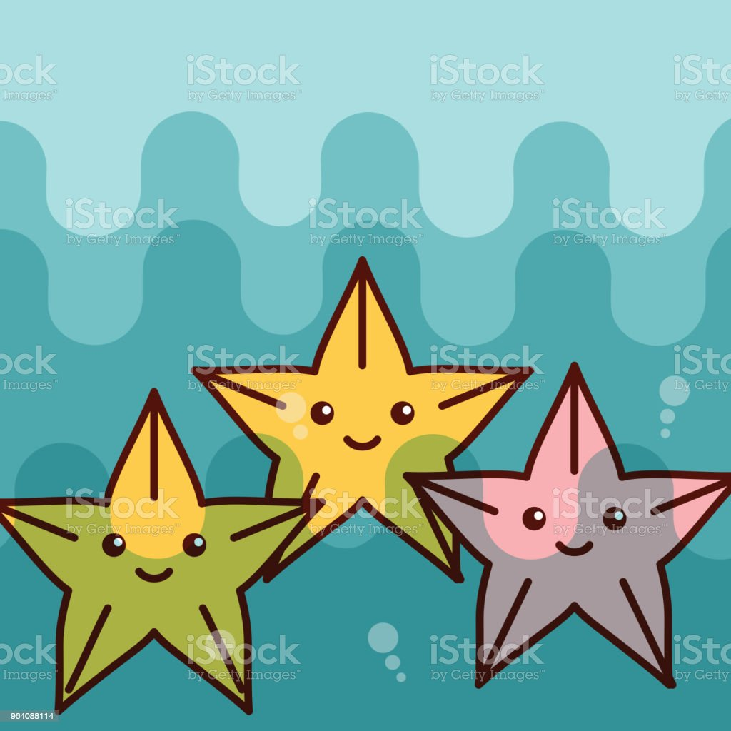 starfish sea life cartoon - Royalty-free Algae stock vector