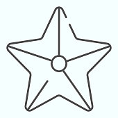 Starfish thin line icon. Marine star illustration isolated on white. Starfish outline style design, designed for web and app. Eps 10