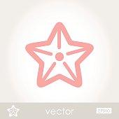 Starfishe vector icon illustration outline, eps 10