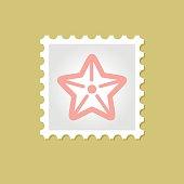 Starfishe vector stamp illustration outline, eps 10