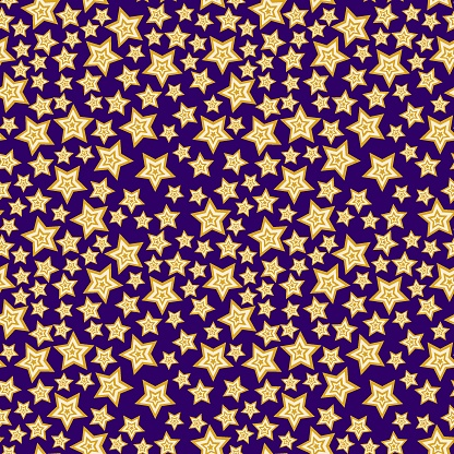 Starlight night complex seamless pattern vector