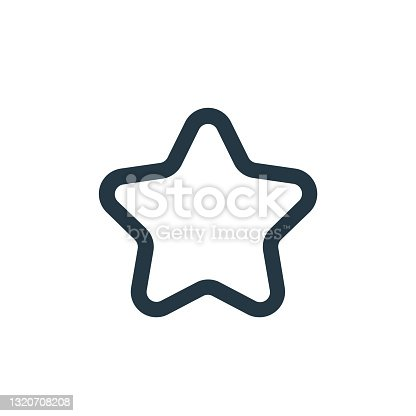 starred icon vector from ecommerce ui concept. Thin line illustration of starred editable stroke. starred linear sign for use on web and mobile apps, logo, print media.