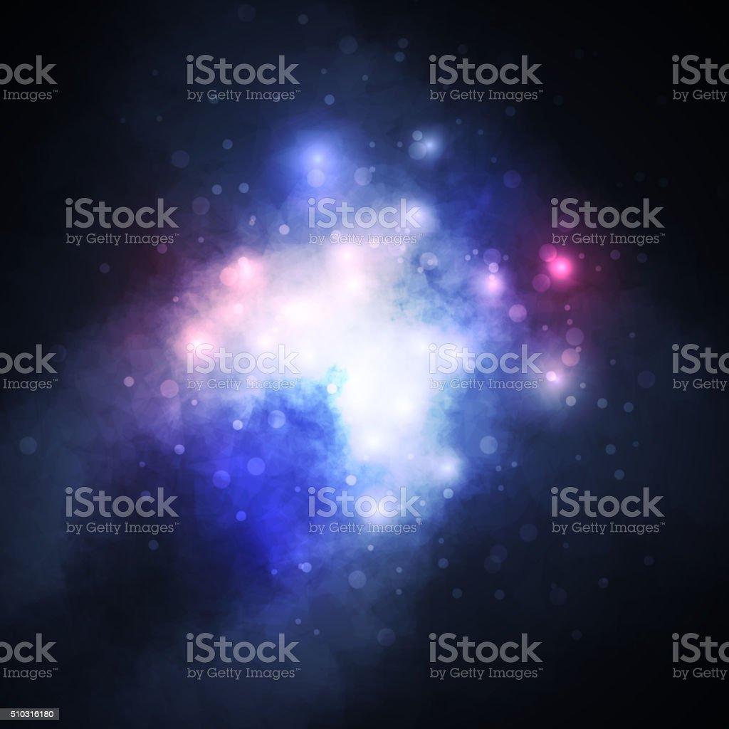 Ilustración de Fondo De Cielo Estrellado Gran Nebulosa Formador De ...
