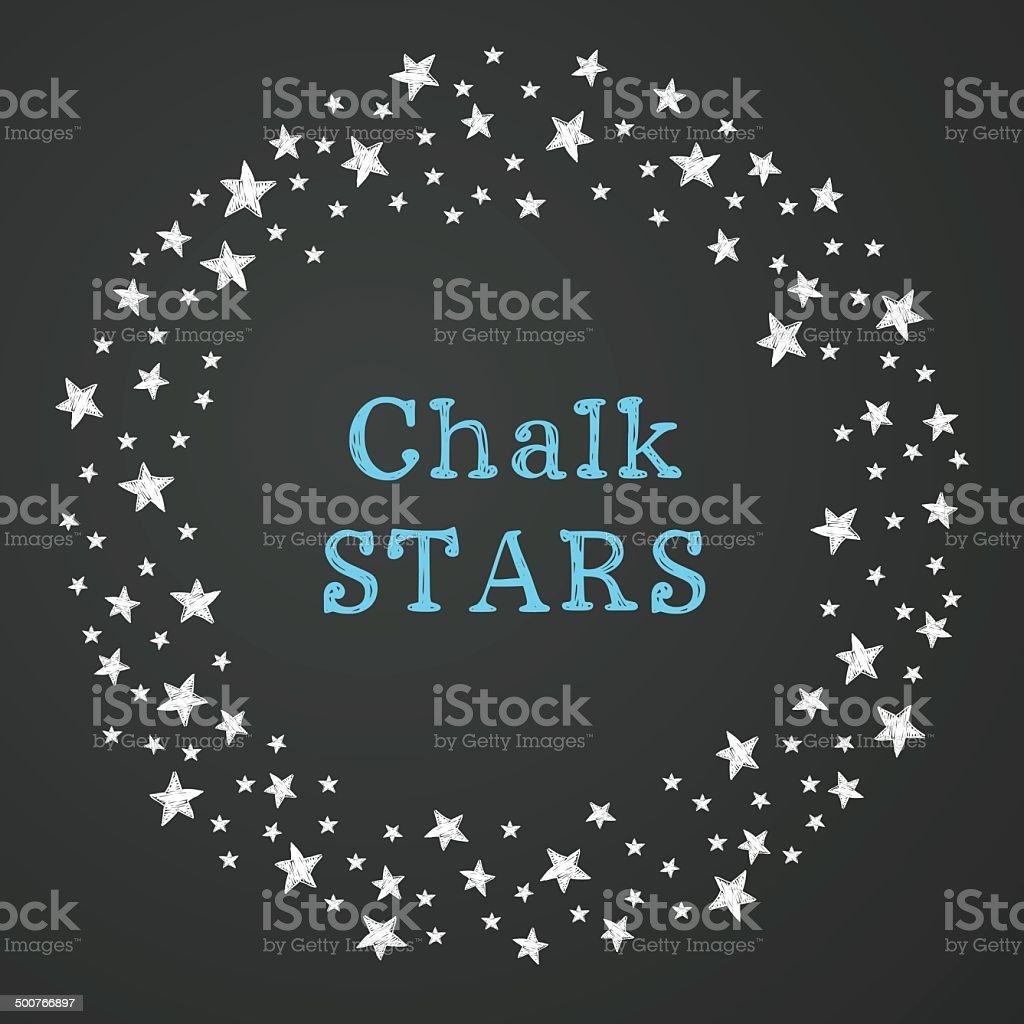 Starry frame vector art illustration
