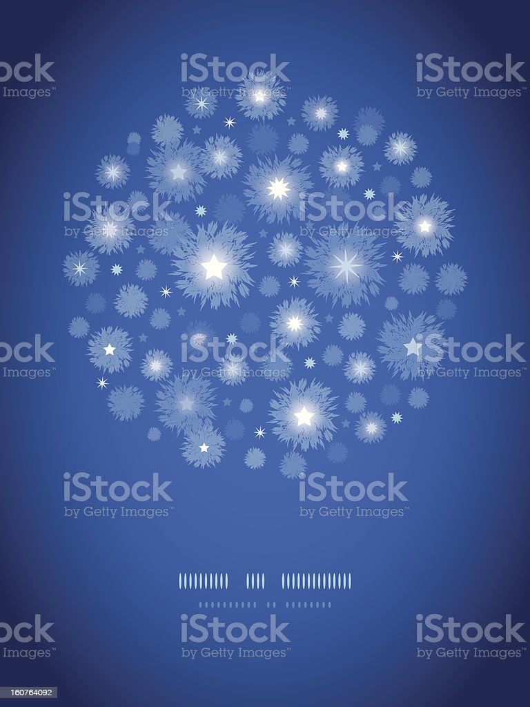 Starry night circle vignette pattern background royalty-free stock vector art