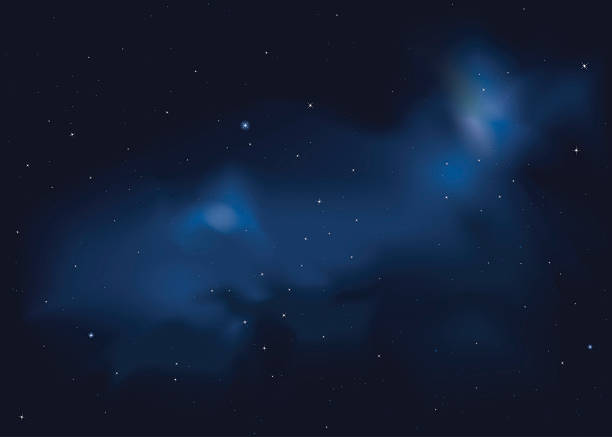 starry night - skies stock illustrations, clip art, cartoons, & icons
