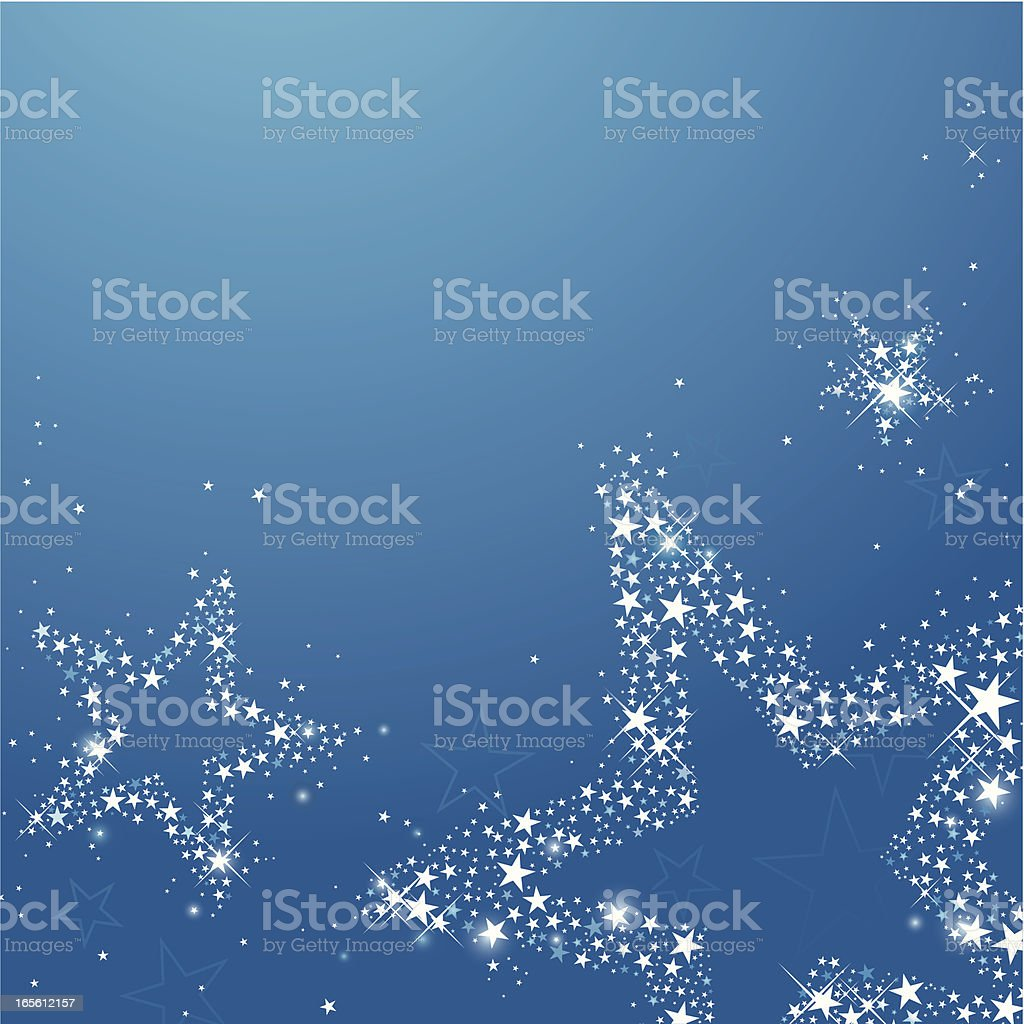 Starry Night (with copy space) vector art illustration