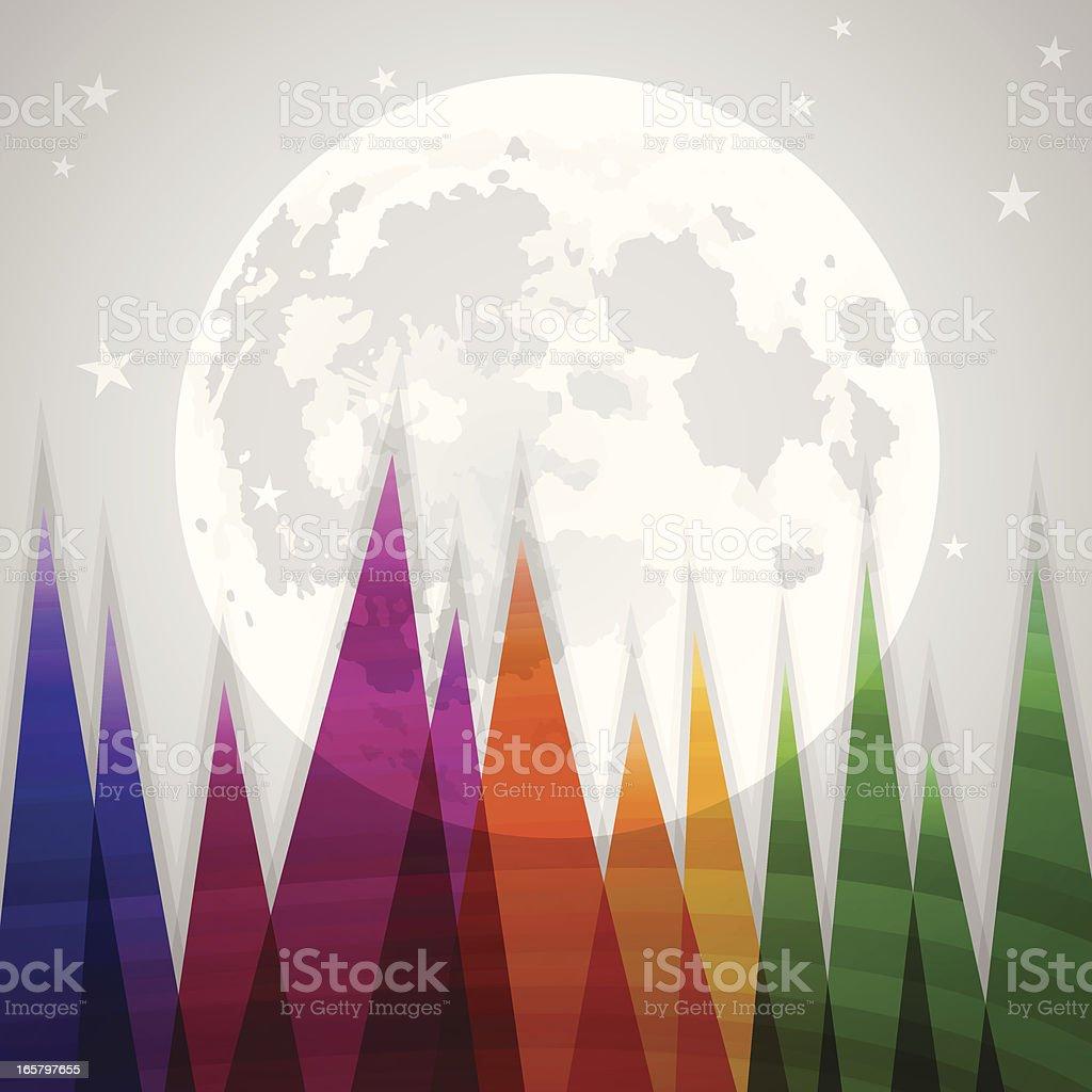 Starry Night royalty-free stock vector art