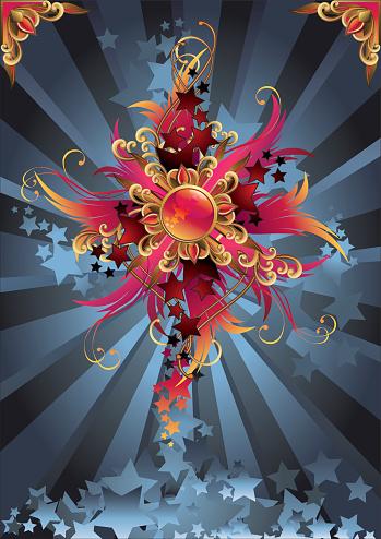 Starry Стиле Ретро — стоковая векторная графика и другие изображения на тему Абстрактный