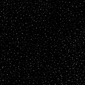 Starry sky hand draw seamless pattern, doodle rings and crosses in galaxy and stars style - endless background. Galaxy background of starry night sky, space repeat seamless