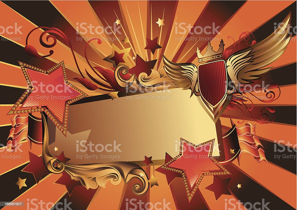 Starry tag royalty-free stock vector art