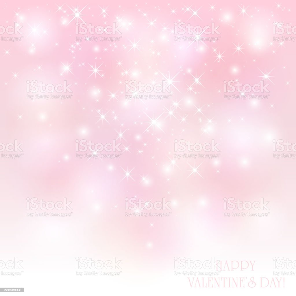 Starry Valentines background vector art illustration