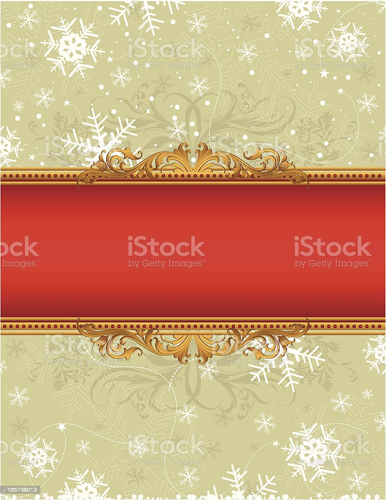 Stars and Snowflakes banner royalty-free stock vector art