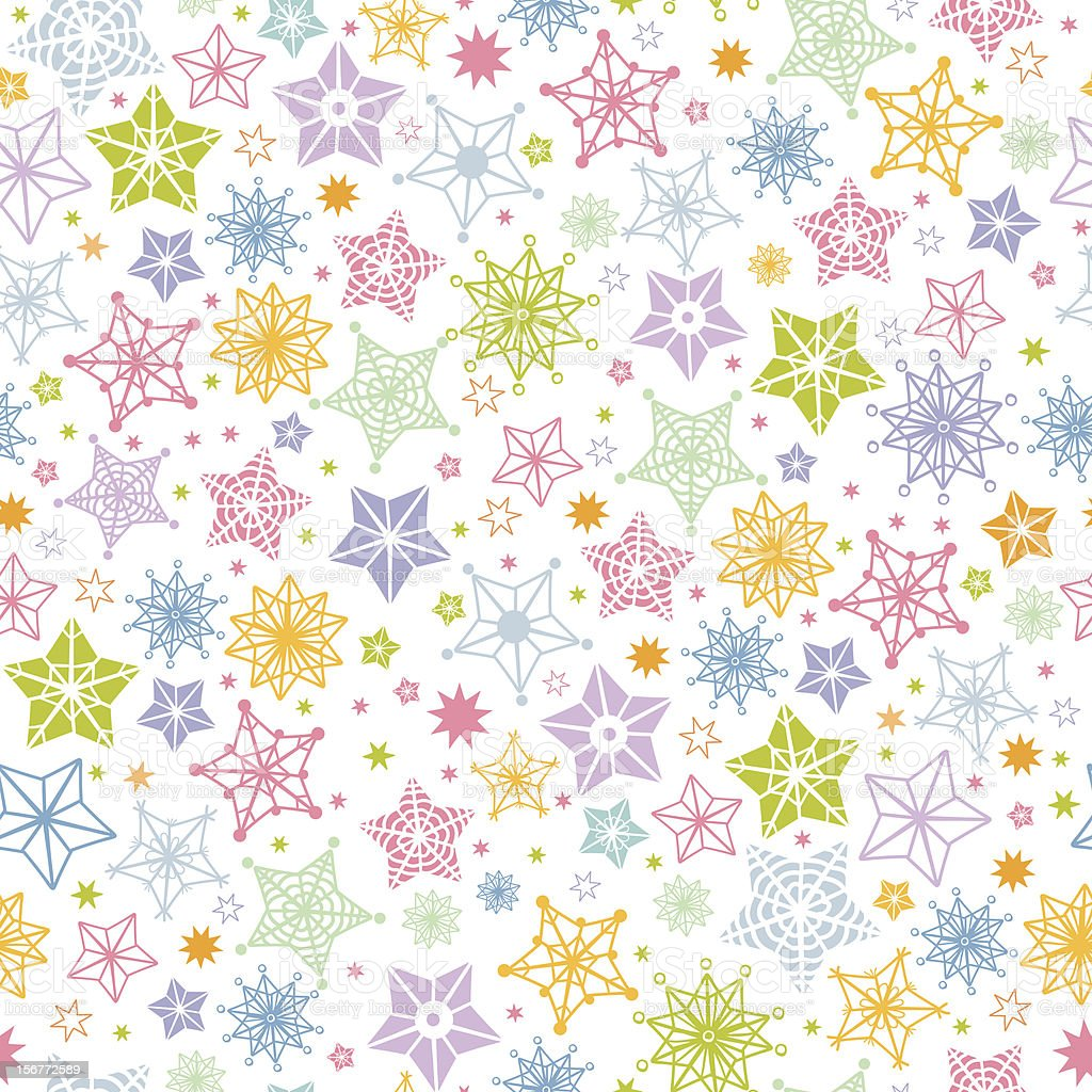 Stars and Snowflakes Seamless Pattern royalty-free stars and snowflakes seamless pattern stock vector art & more images of backgrounds