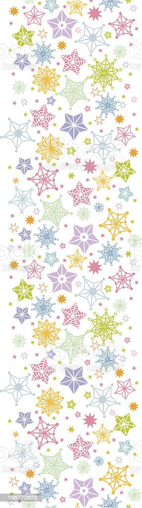 Stars and Snowflakes Vertical Seamless Pattern Ornament royalty-free stars and snowflakes vertical seamless pattern ornament stock vector art & more images of backgrounds